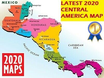 Central America Compatible Map 2020 for Garmin GPSs