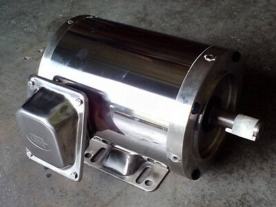 Gator Stainless Steel Ac Motor 3 Phase 1hp 3600rpm 56c Tenv Footed 1yr Warranty