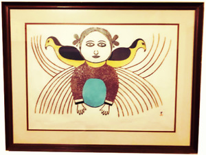 OFFERS-Rare Inuit Art - Ningeeuga Oshuitoq - Picture of My Youth