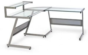 Bureau en verre et metal STRUCTUBE desk, metal and glass
