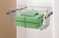 "24"" Closet Pullout Wire Basket Chrome *NEW*"