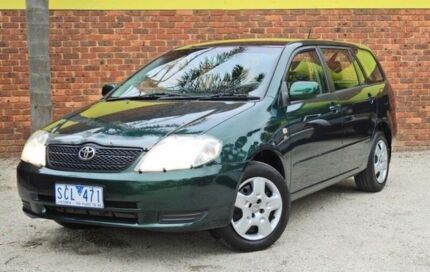 2002 Toyota Corolla ZZE122R MY03 Conquest Green 4 Speed Automatic Wagon