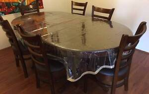 A beautiful 6 seater solid rubberwood dining table(with 6 chairs) North Strathfield Canada Bay Area Preview