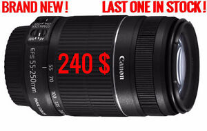 CANON EF-S 55-250MM F/4-5.6 IS II LENS = 240 $ BRAND NEW