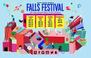 3 x Falls Festival tix plus camping Byron Bay Canberra City North Canberra Preview