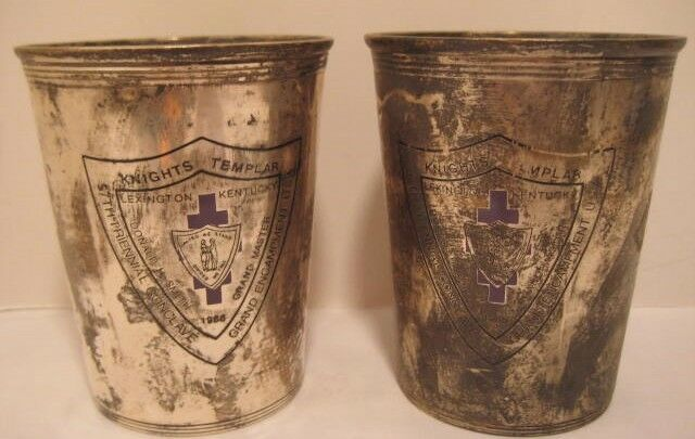 Old 1988 PR Silverplate Cup Knights Templer Lexington KY 57th Triennial Conclave
