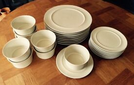 Beautiful Dinner Service from Denby - biscuit colour