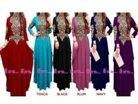 Ladies Abaya, kaftan, hijab, maxi dress
