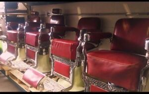 Various Antique Barber Chairs (100+ CHAIRS IN STOCK)