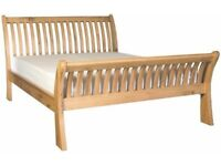 Genuine OAK Wood, King Size Bed Frame with Mattress. Moving home so need to sell it. Very strong.