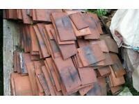 antique clay shingle tiles