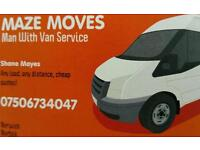 MAN WITH VAN - CHEAP - FULLY INSURED