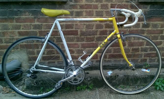 French vintage Road bike MBK frame size 23inch , SHIMANO Altus 12 speed serviced WARRANTY