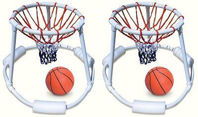 2) Swimline 9162 Swimming Pool Distinction Floating Super Hoops Fun Basketball Games