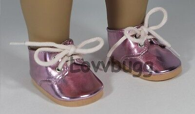 "Lovvbugg Twinkle Toes Oxfords PINK for 15"" Baby or 18"" American Girl Doll Shoes"