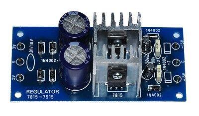 -15vdc 1a Dc Regulator Power Dual Supply Input Ac 12-18v Unassembled Kit