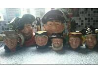 Toby jugs mint condition not a mark on any of them