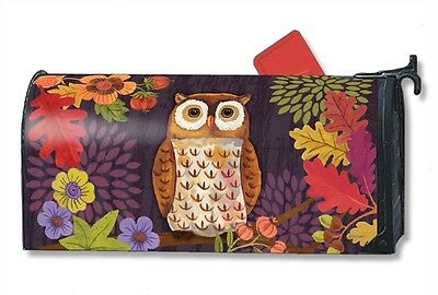 Floral Owl Mailwrap Mail Box Wrap Magnetic Mailbox Cover Standard