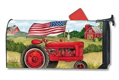 Magnetic Mailwraps Patriotic Tractor Mail Wrap  01504