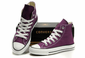 Purple Hightop Converse All Star shoes- Mens size 8 -fits like 9
