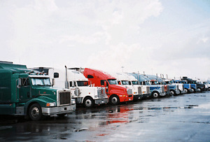 Truck and trailer parking