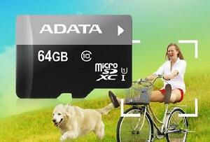 ADATA 64GB Premier microSDXC Card with Adapter - UHS-I - Class-10 - AUSDX64GUICL10-RA1