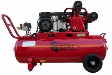BOSS 18CFM/ 3HP Air Compressor on 100L Tank