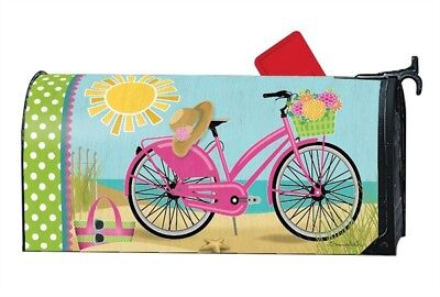 Morning Beach Ride Mailwrap Mail Box Wrap Magnetic Mailbox Cover Standard