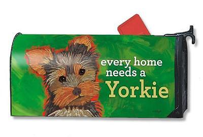 Magnet Works Mailwraps Yorkie Dog Original Magnetic Mailbox Wrap Cover