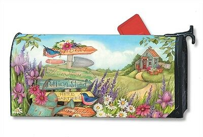 Signs Spring Mail Box Wrap Garden Bird Magnetic Mailwrap Mailbox Cover Standard