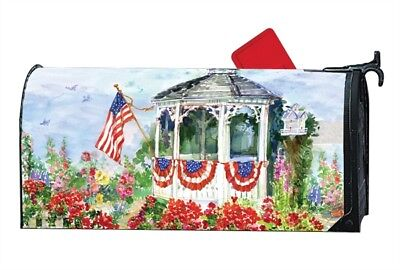 All American Flag Mailwrap Mail Box Wrap Magnetic Mailbox Cover Standard