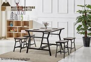 Wood and metal Counter-height Dining Collection in Grey finish (MA408)