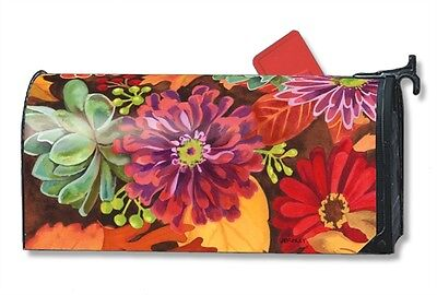 Autumn Jazz Mail Box Wrap Flower Leaves Magnetic Mailwrap Mailbox Cover