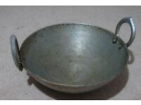 Good quality iron karahi (indian wok)