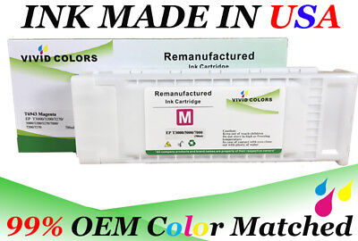 VividColors Remanufactured SureColor T5000 Ink Cartridge T6953 Magenta 5000 Magenta Ink