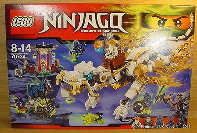 lego ninjago masters of spinjitzu master wu dragon blanc set 70734 nouvelle ninja