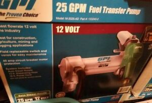 ***** BNIB Sealed GPI 12 Volt DC Fuel Transer pump **** - $600