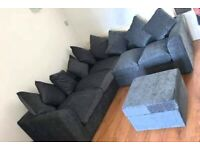 Brand New Dylan Premium Fabric 3+2 / Corner Sofa / Swivel Chair / Footstool