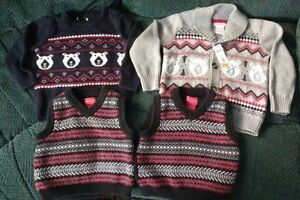 Cotton sweaters and vests 18-24 mo