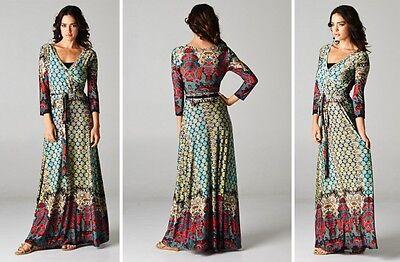 Boho Chic Gypsy Chelsea Wrap Maxi Dress Best Selling Size S 0-4 -
