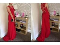 Stunning red paparazzi prom dress