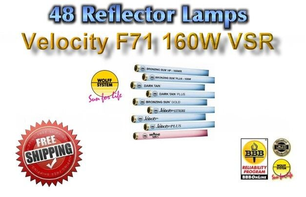 Tanning Bed Lamps Bulbs Wolff Velocity Vsr F71 T12 160 Watt Lot Of 48