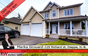 OPEN HOUSE this Sunday from 2-4pm @ 125 Richard, Dieppe