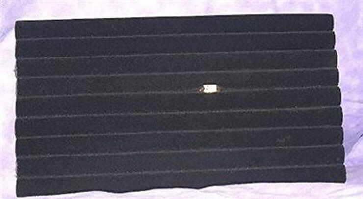 VELVET TUFTED RING FOAM BLACK 8 ROW