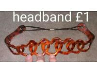 £1 Love heart gel hair head band NEW