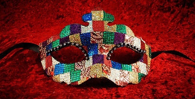 Mask Venice Colombine up-to-date and Mosaic Authentic Paper Mache 538