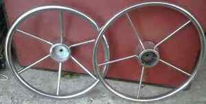 2 Antique Metal Steel Boat Steering Wheels Vintage Old Kingston Kingston Area image 1