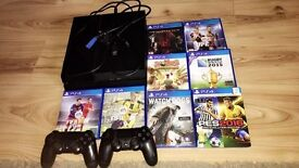 7 Months Old PS4 with 2 Controllers and 9 games (far cry primal not included in picture)