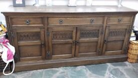 Vintage solid wood sideboard