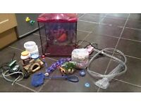 Little Mermaid fish tank with accessories
